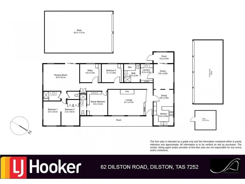 62 Dilston Road, Dilston TAS 7252 Floorplan