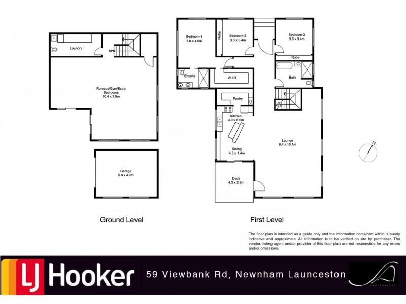59 Viewbank Road, Newnham TAS 7248 Floorplan