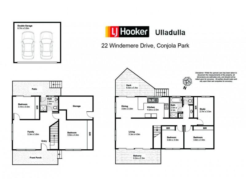 22 Windemere Drive, Conjola Park NSW 2539 Floorplan