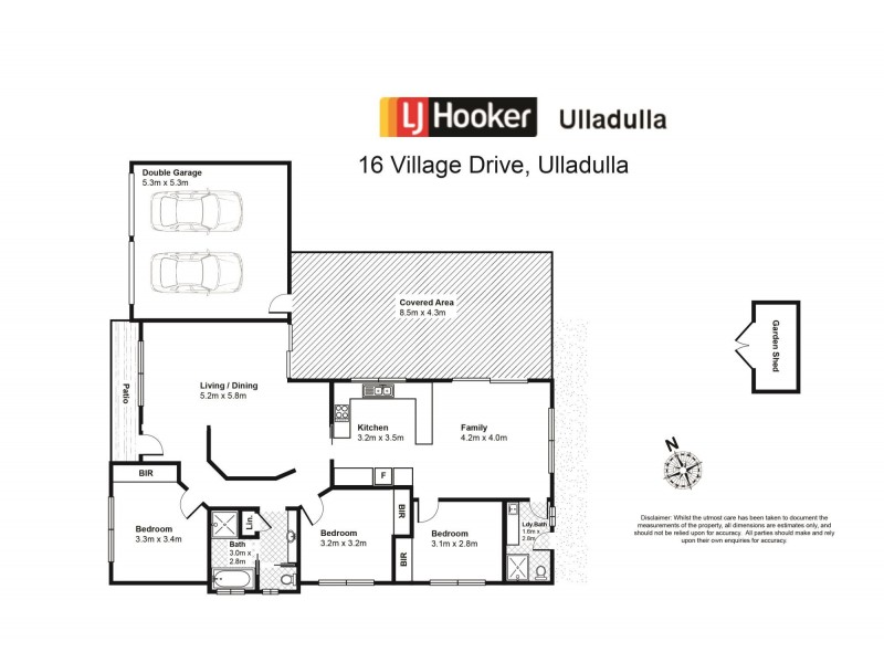 16 Village Drive, Ulladulla NSW 2539 Floorplan