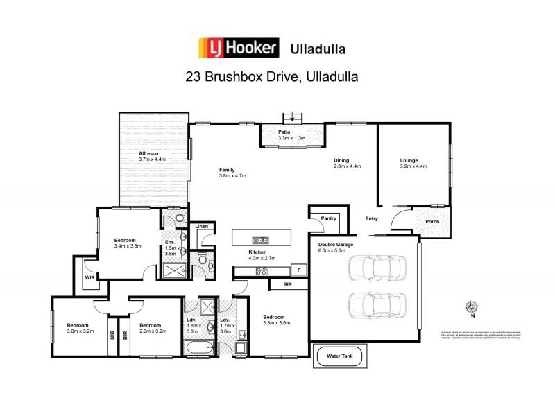 23 Brushbox Drive, Ulladulla NSW 2539 Floorplan