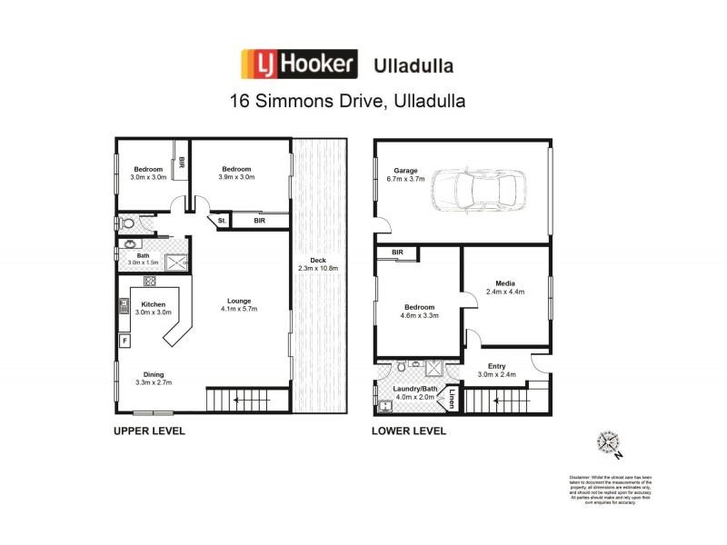 16 Simmons Drive, Ulladulla NSW 2539 Floorplan