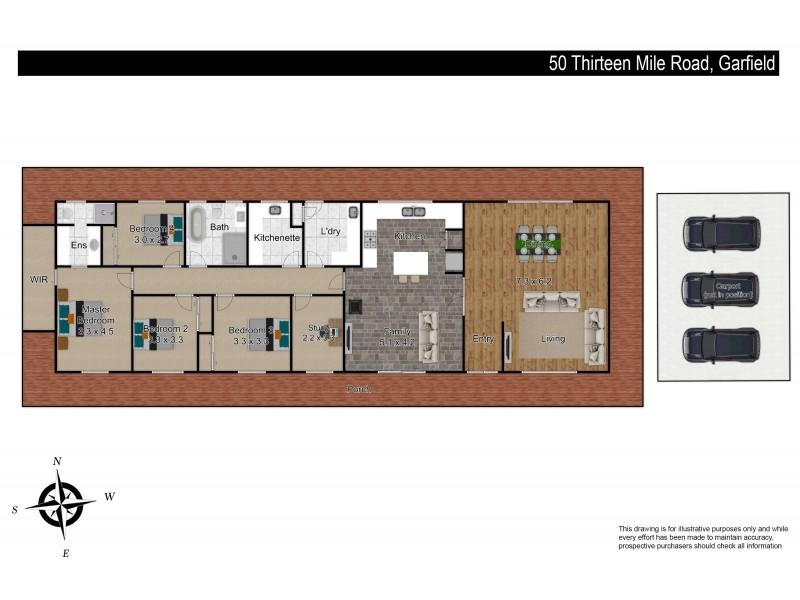 50 Thirteen Mile Road, Garfield VIC 3814 Floorplan