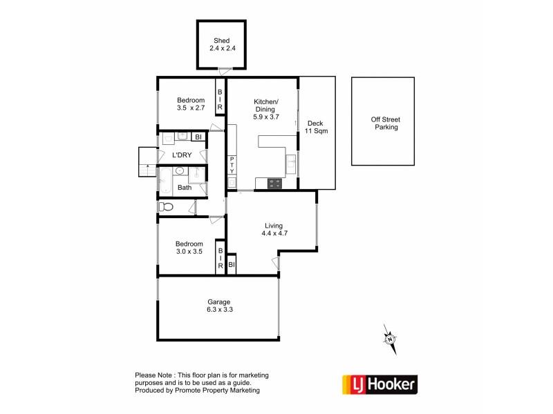 2/25 Mariah Crescent, Oakdowns TAS 7019 Floorplan