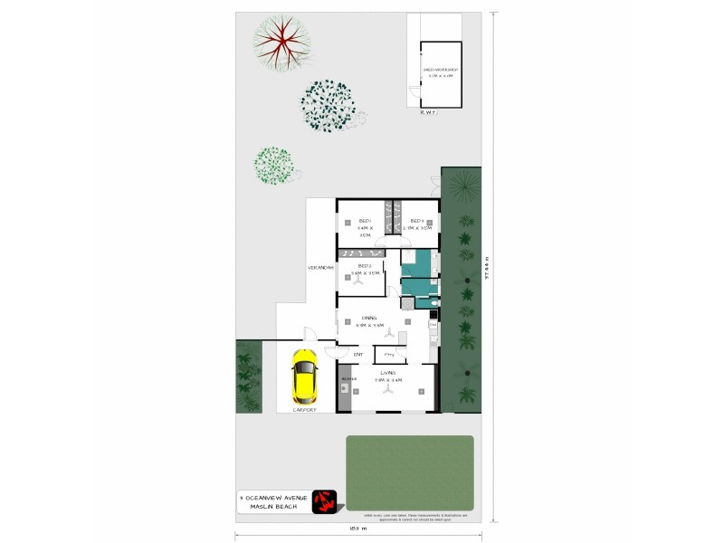 3 Oceanview Avenue, Maslin Beach SA 5170 Floorplan