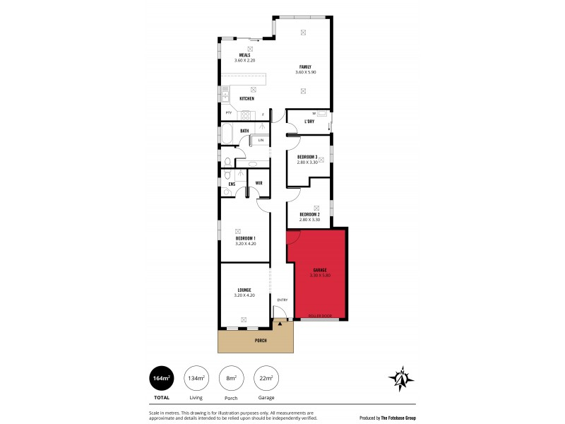 12 Evergreen Court, Aldinga Beach SA 5173 Floorplan