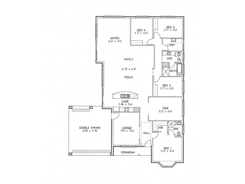 25 Dover Street, Aldinga Beach SA 5173 Floorplan