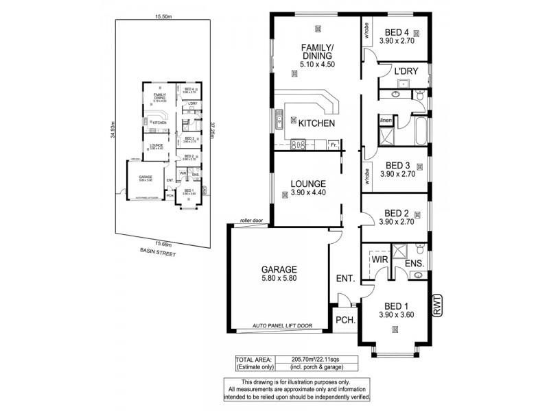 36 Basin Street, Aldinga Beach SA 5173 Floorplan
