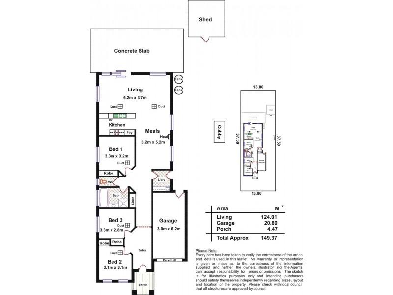43 Basin Street, Aldinga Beach SA 5173 Floorplan