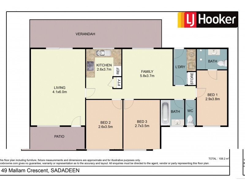 49 Mallam Crescent, Sadadeen NT 0870 Floorplan