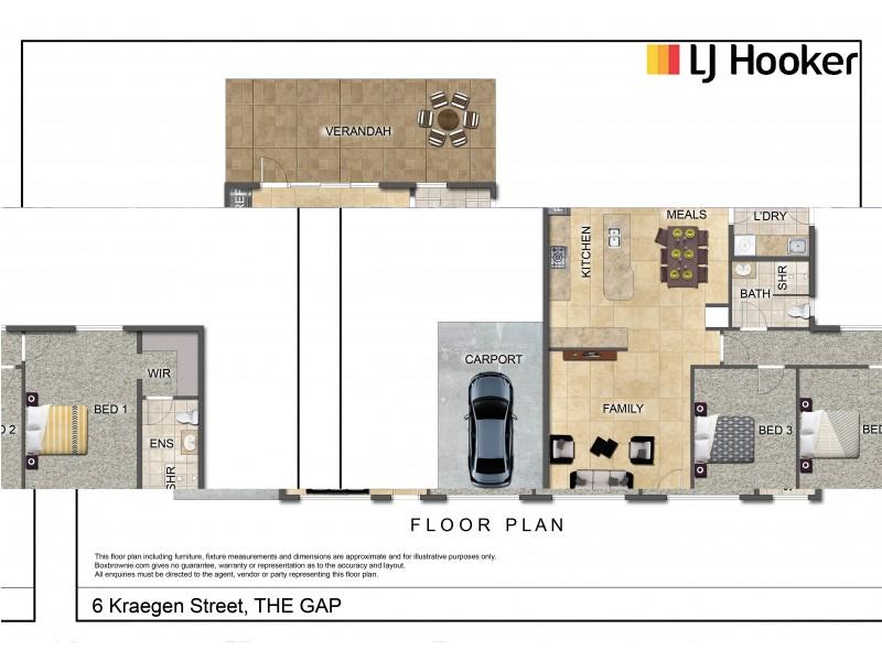 6 Kraegen Street, The Gap NT 0870 Floorplan