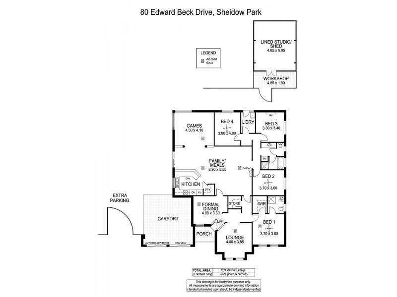 80 Edward Beck Drive, Sheidow Park SA 5158 Floorplan