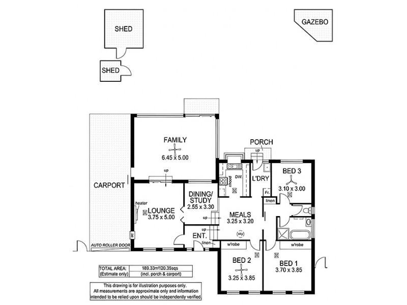 39 Columbia Crescent, Hallett Cove SA 5158 Floorplan