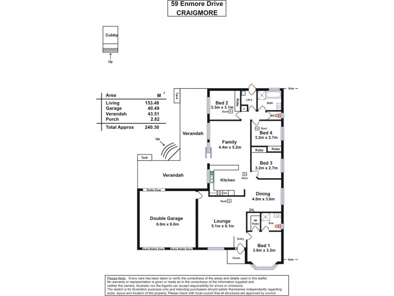 59 Enmore Drive, Craigmore SA 5114 Floorplan