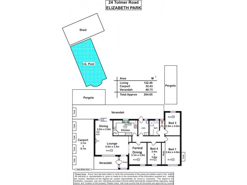 24 Tolmer Road, Elizabeth Park SA 5113 Floorplan