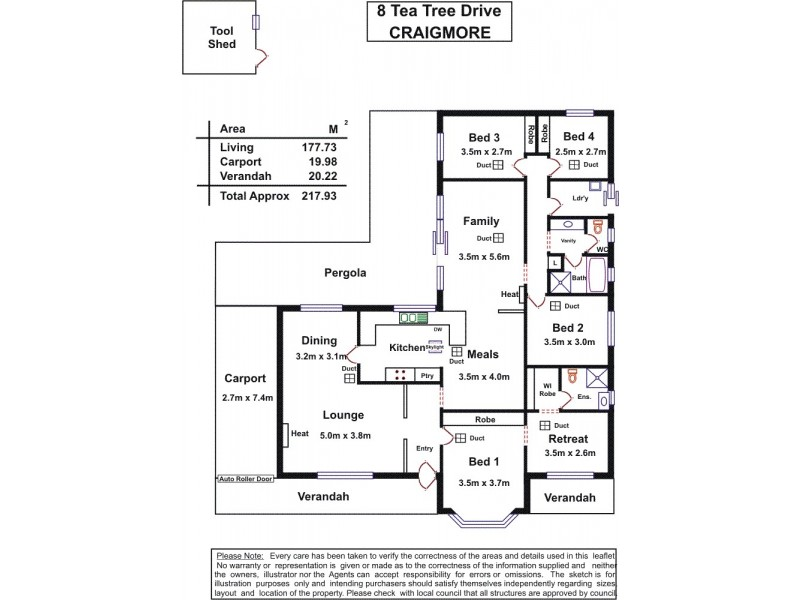 8 Tea Tree Drive, Craigmore SA 5114 Floorplan