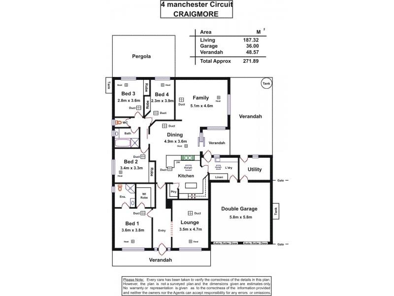 4 Manchester Circuit, Craigmore SA 5114 Floorplan
