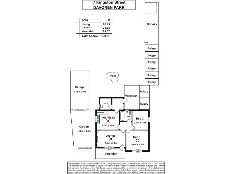 7 Kingston Street, Davoren Park SA 5113 Floorplan