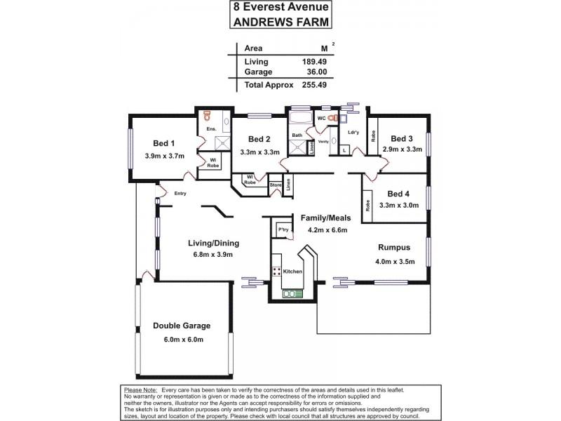 8 Everest Avenue, Andrews Farm SA 5114 Floorplan