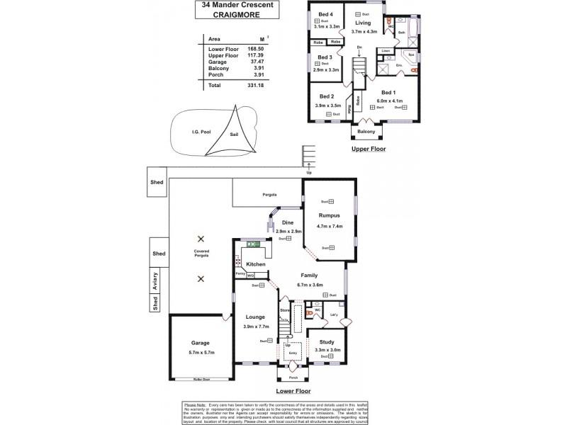 34 Mander Crescent, Craigmore SA 5114 Floorplan