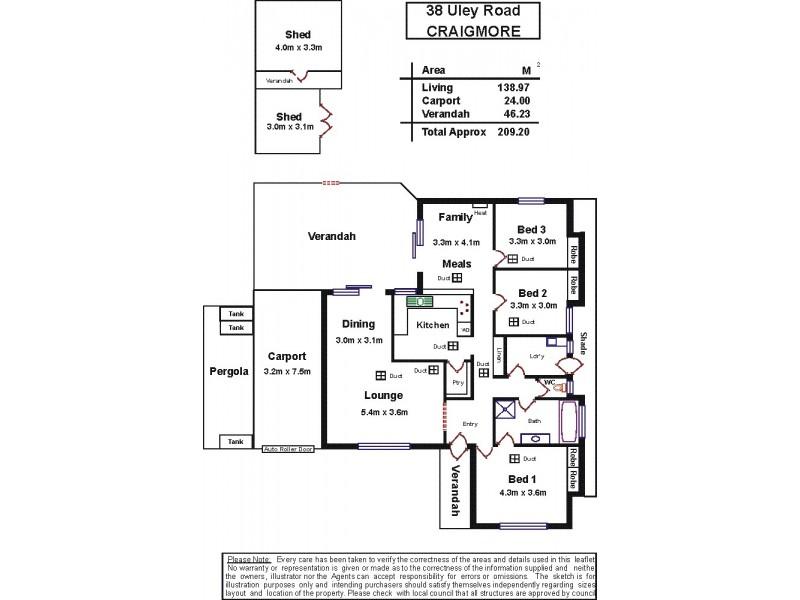 38 Uley Road, Craigmore SA 5114 Floorplan