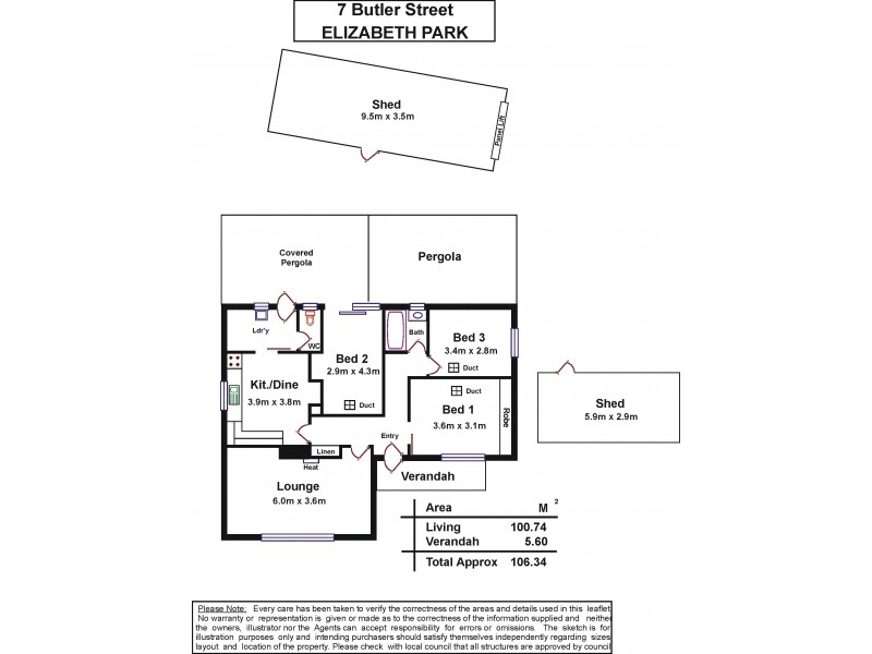 7 Butler Street, Elizabeth Park SA 5113 Floorplan