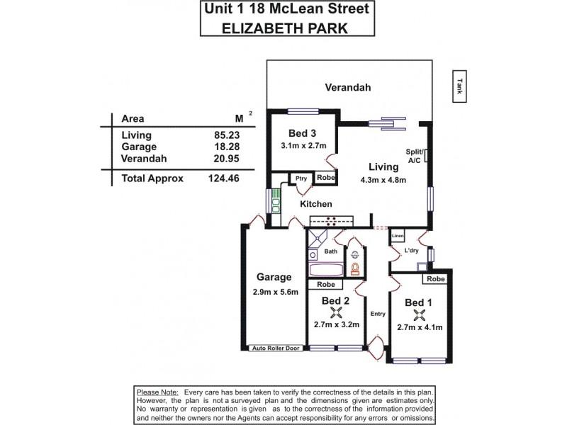 1/18 McLean Street, Elizabeth Park SA 5113 Floorplan