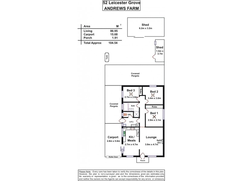 52 Leicester Grove, Andrews Farm SA 5114 Floorplan