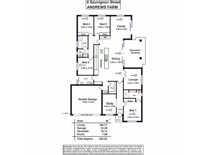 6 Sauvignon Street, Andrews Farm SA 5114 Floorplan