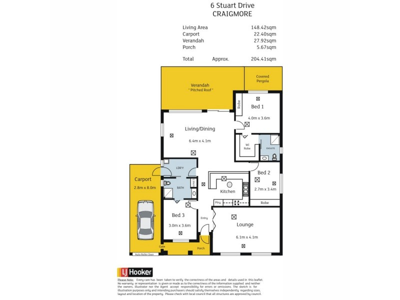 6 Stuart Drive, Craigmore SA 5114 Floorplan