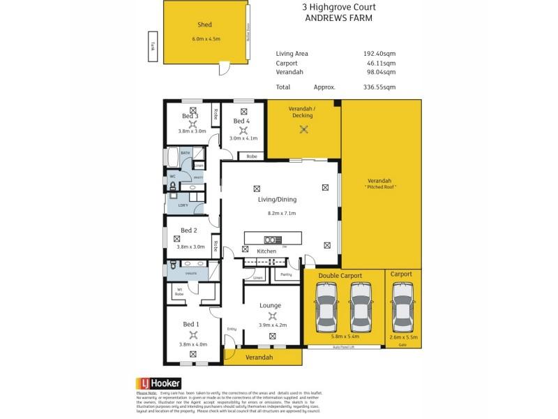 3 Highgrove Court, Andrews Farm SA 5114 Floorplan