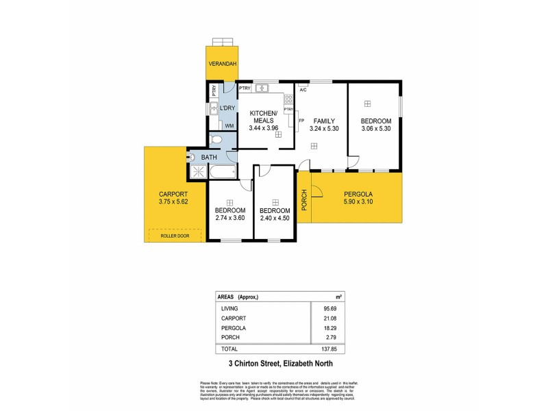 3 Chirton Street, Elizabeth North SA 5113 Floorplan