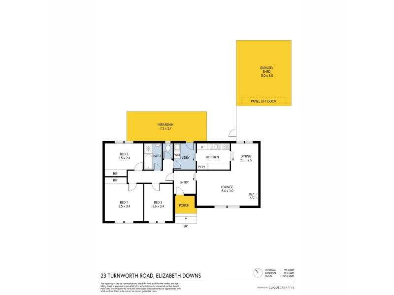 23 Turnworth Street, Elizabeth Downs SA 5113 Floorplan