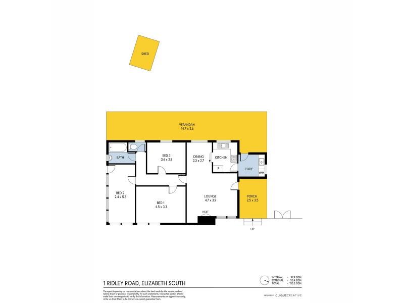 1 Ridley Road, Elizabeth South SA 5112 Floorplan