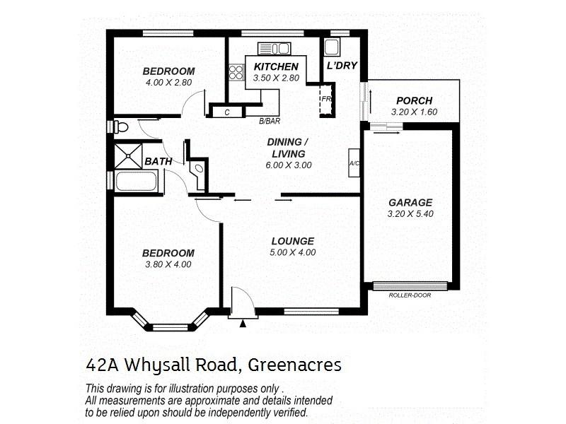42A & B Whysall Road, Greenacres SA 5086 Floorplan