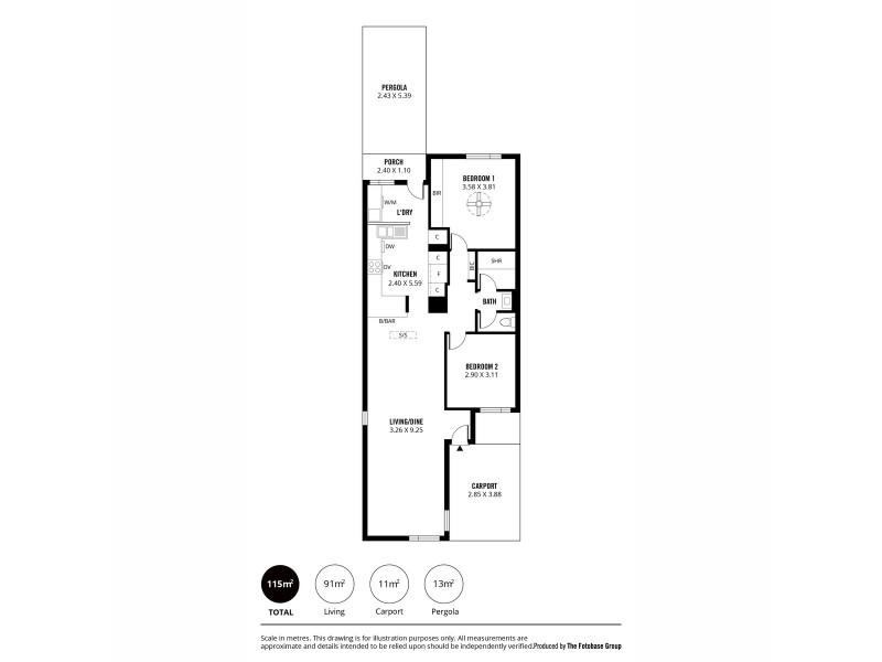 1/428 Magill Road, Kensington Gardens SA 5068 Floorplan