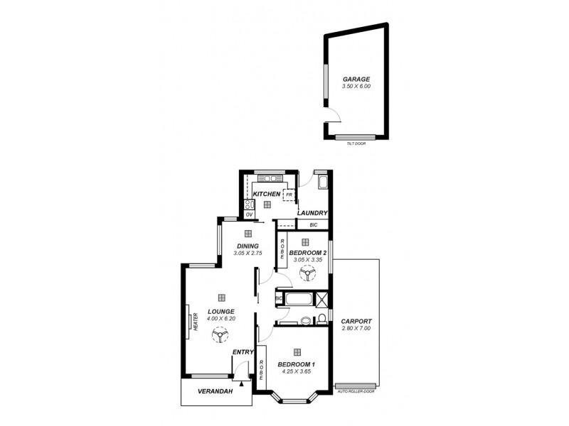2/449 Kensington Road, Rosslyn Park SA 5072 Floorplan
