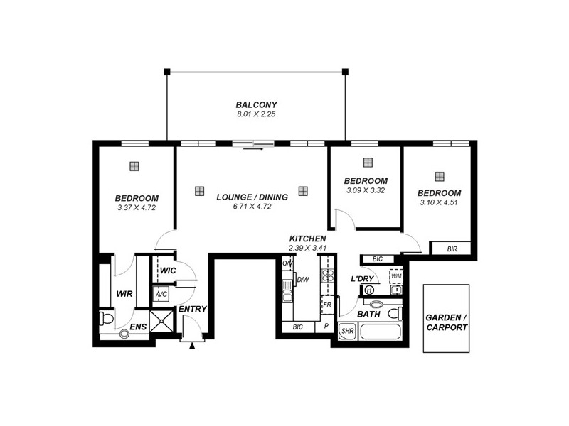12/7 Liberman Close, Adelaide SA 5000 Floorplan