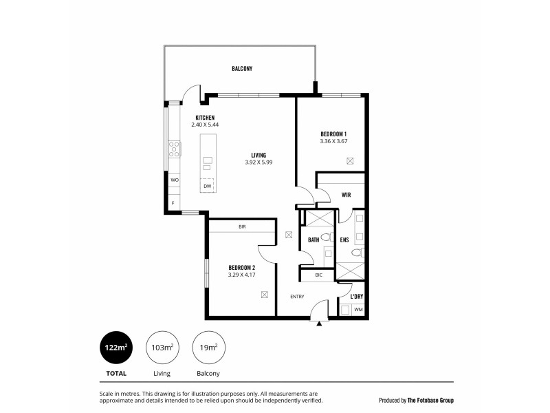 1706/47 Hindmarsh Square, Adelaide SA 5000 Floorplan
