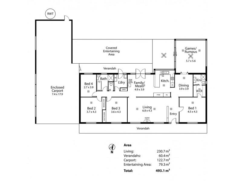 103 Carnells Boundary Road, Birdwood SA 5234 Floorplan