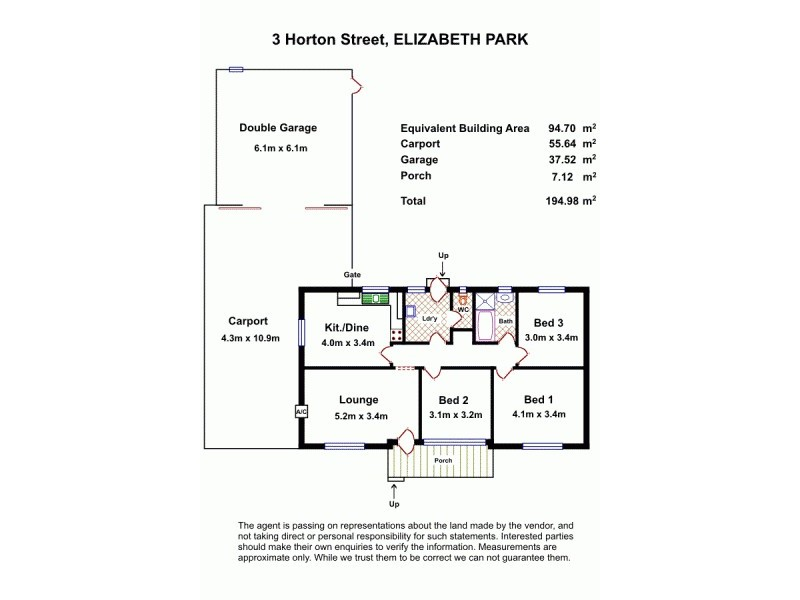 3 Horton Street, Elizabeth Park SA 5113 Floorplan
