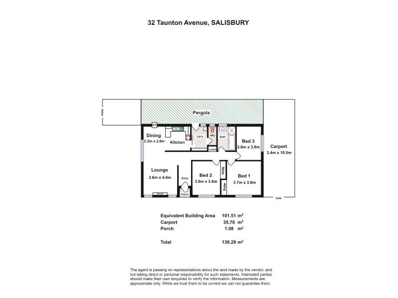 32 Taunton Avenue, Salisbury SA 5108 Floorplan