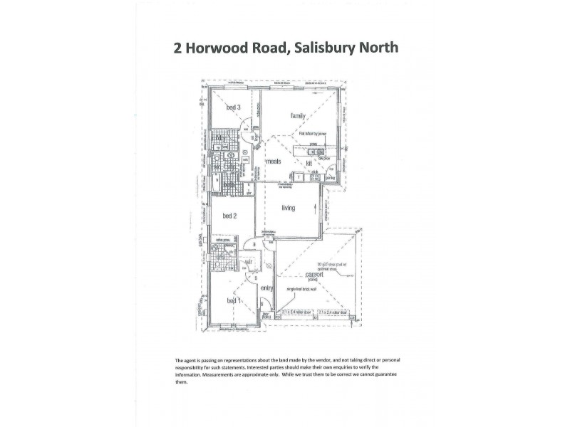 2 Horwood Road, Salisbury North SA 5108 Floorplan