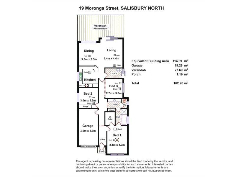 19 Moronga Street, Salisbury North SA 5108 Floorplan