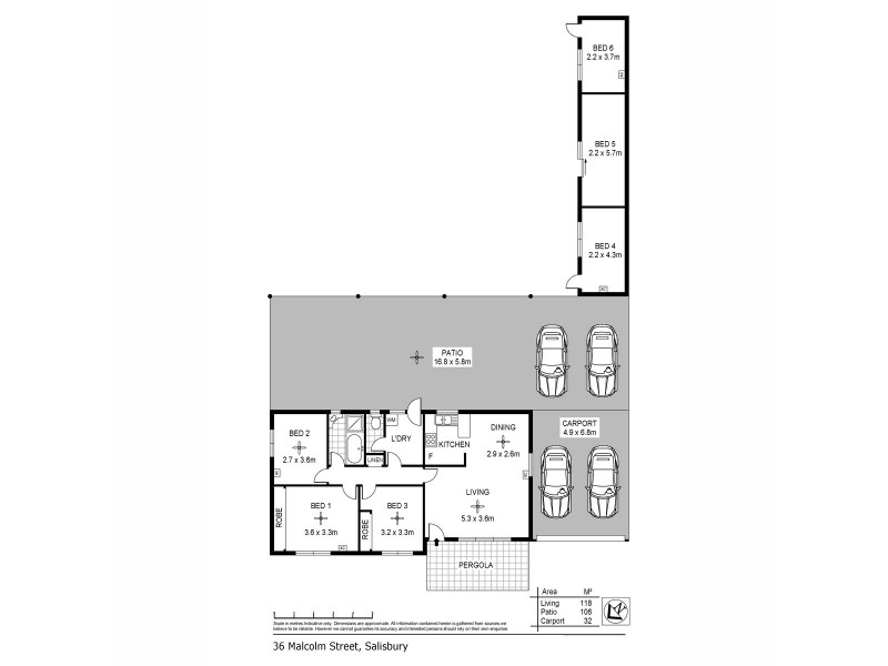 36 Malcolm Street, Salisbury SA 5108 Floorplan