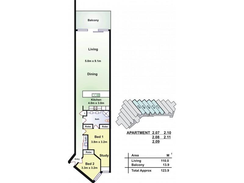209/50 Esplanade (Beach Point Apartments), Christies Beach SA 5165 Floorplan