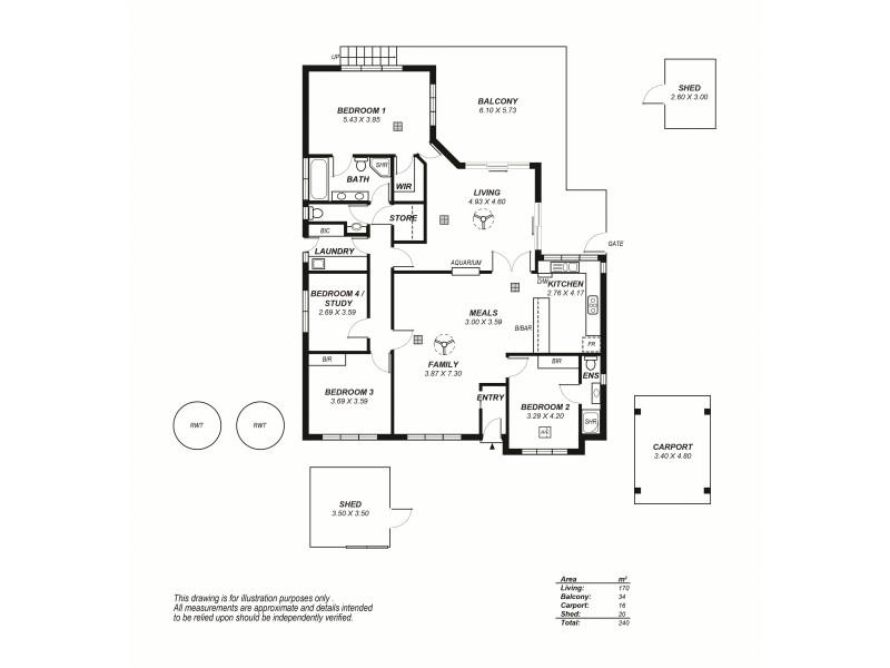 4 Cherry Pine Place, Aldgate SA 5154 Floorplan