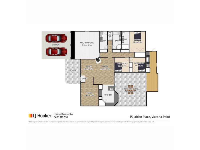 15 Jaidan Place, Victoria Point QLD 4165 Floorplan