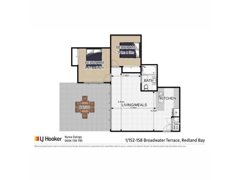 1/152 Broadwater Terrace, Redland Bay QLD 4165 Floorplan