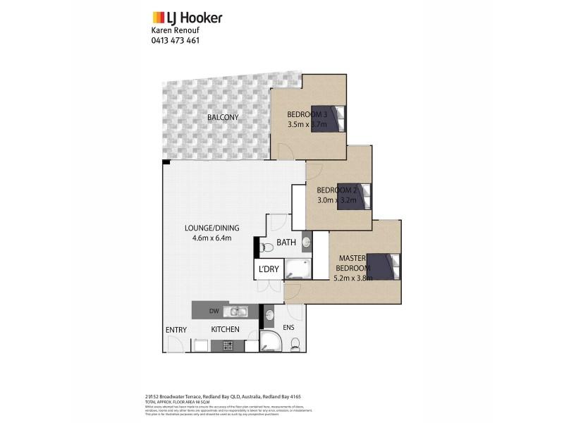 21/152 Broadwater Terrace, Redland Bay QLD 4165 Floorplan
